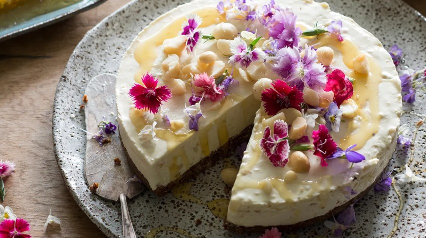 The Farm Community honey-and-macadamia-cheesecake