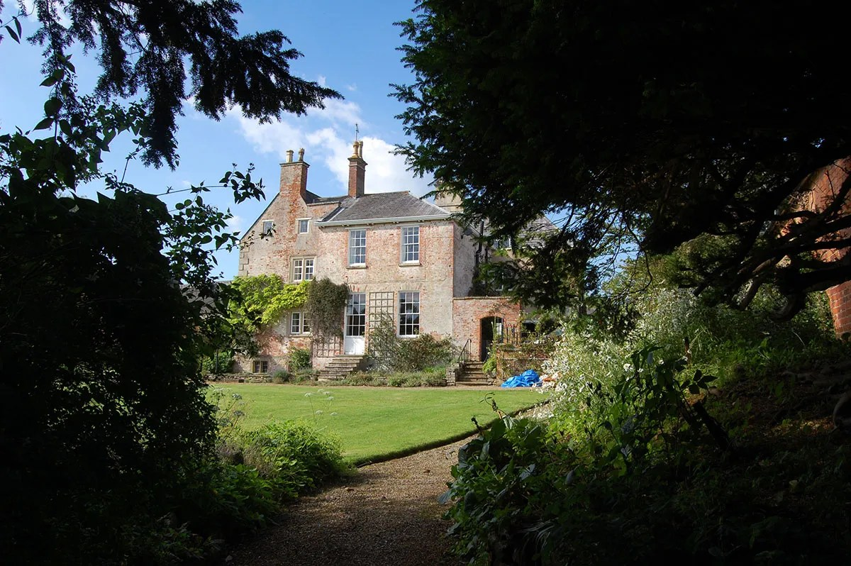 Adventurers Laura Bingham and Ed Stafford's house from the garden in Hallaton, Leicestershire