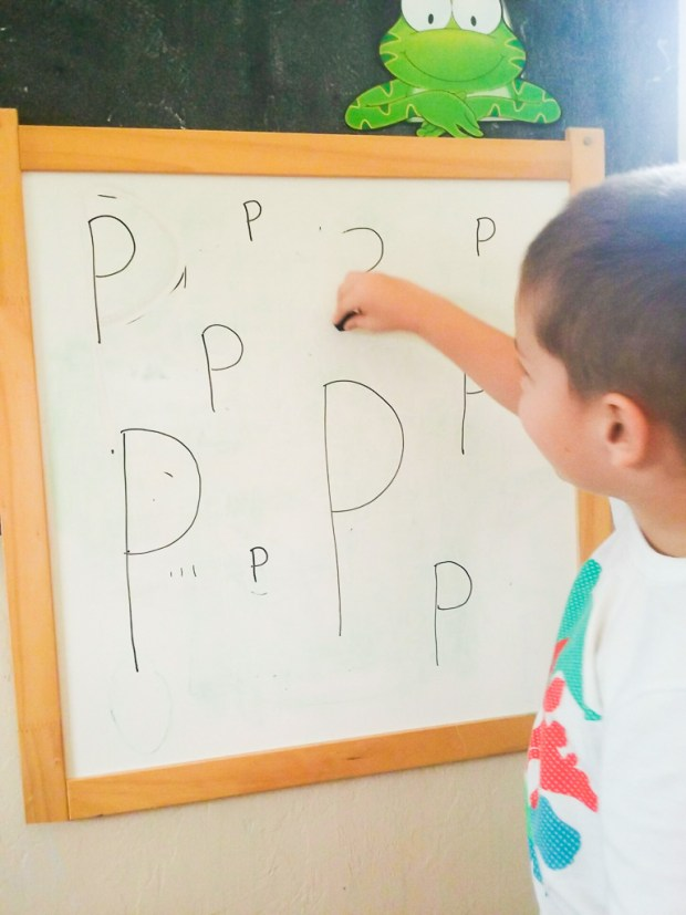 Letter formation activities with dry erase
