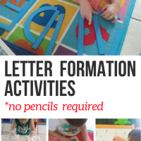 7 FUN Letter Formation Activities! No Pencils Required!