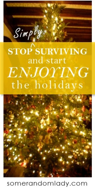 Stop surviving the holidays and start enjoying them! Tips to save your time and sanity this holiday season.