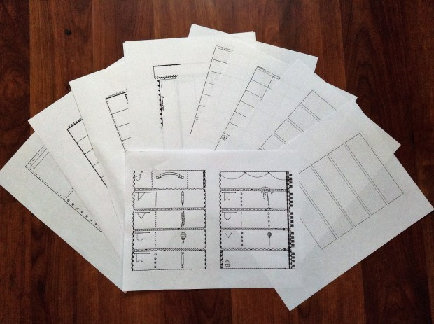 Printable planner inserts