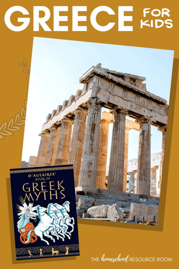 Greece for kids! A unit study to learn all about Greece from ancient history to modern times! Appropriate for kindergarten and elementary grades.