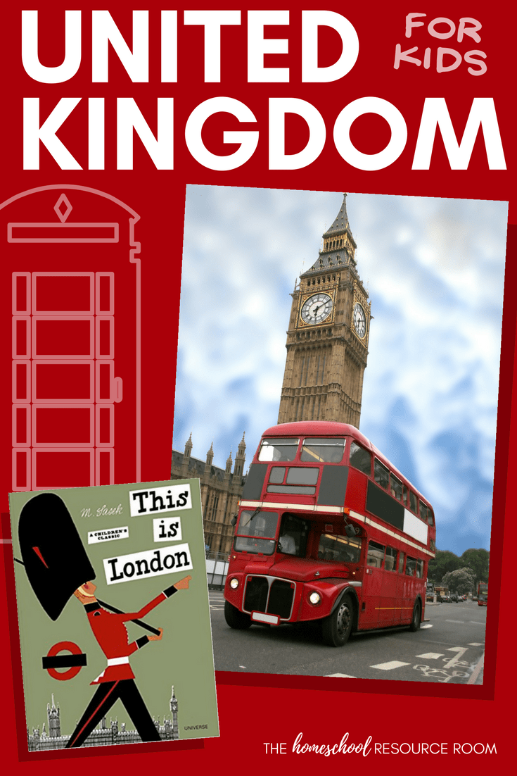 United Kingdom for kids! A unit study to learn all about England, Ireland, Scotland, and Wales! Appropriate for kindergarten and elementary grades.