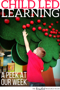 What does child led learning really look like_ A little different every day. Come take a peek at our week of child led learning at home.