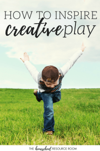How to inspire creative play in young children.