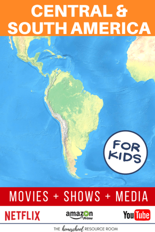 Central and South America for kids! Movies, shows, playlists, and links to supplement your Continent Study.