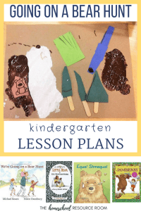 Going on a Bear Hunt activities to accompany the book! Hands-on unit study for preschool, kindergarten, first grade.