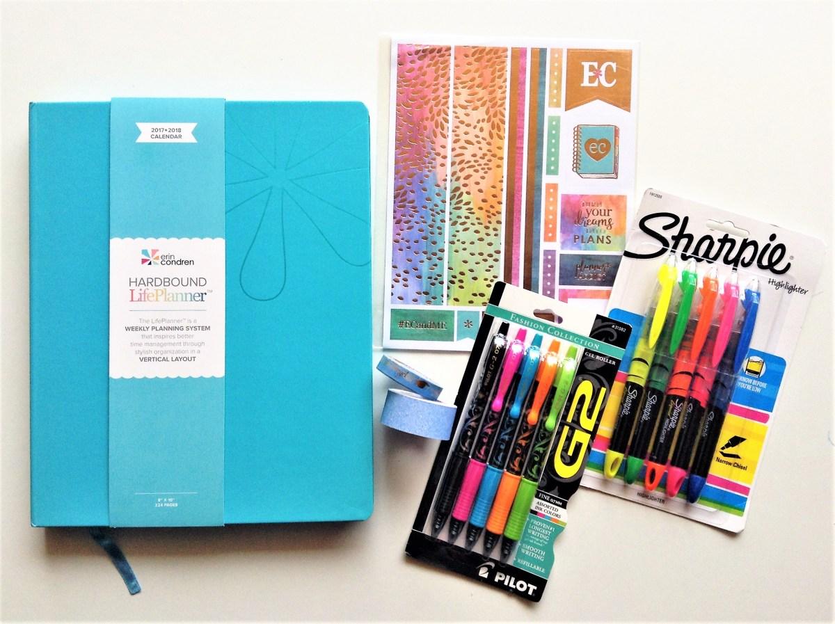 June Giveaway, Erin Condren Hardbound Planner and Accessories