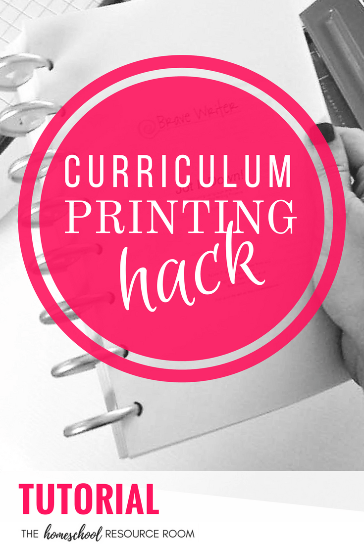 Print curriculum half size HACK - tutorial for printing half size in a booklet.