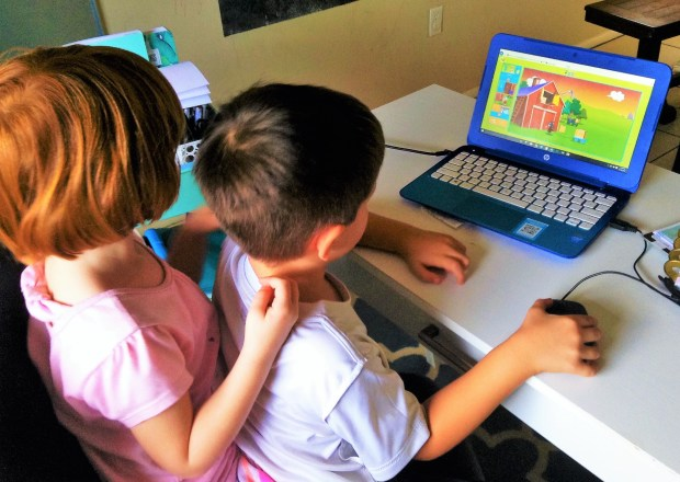 Playing Reading Eggs, The online learning program for children aged 3-13