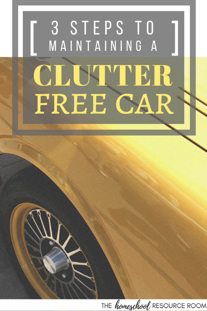 Declutter your MESSY CAR in 3 super easy steps!