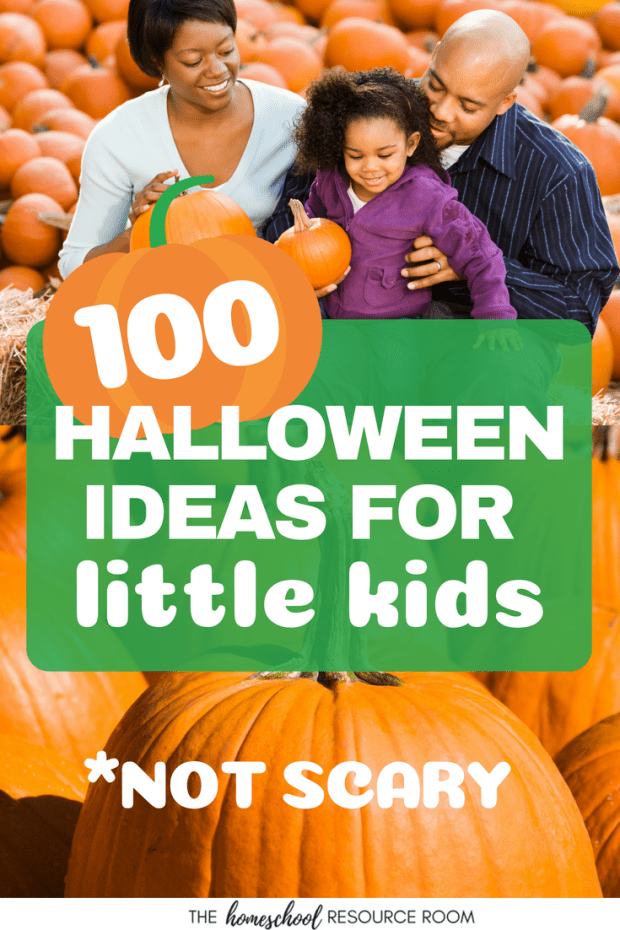 100 Friendly Halloween Ideas for little kids that are NOT scary! Activities, books, and crafts for preschool and kindergarten aged kiddos that are sensitive to the spooky side of Halloween.