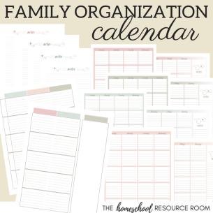 Family Organization Calendar
