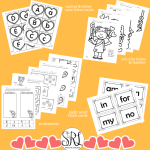 Printable Valentine's Day activities for preschool, prek, and kindergarten.