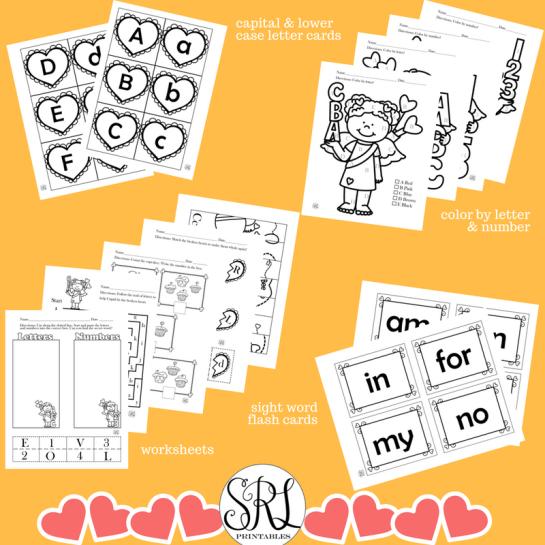 Printable Valentine's Day activities for preschool, prek, and kindergarten.
