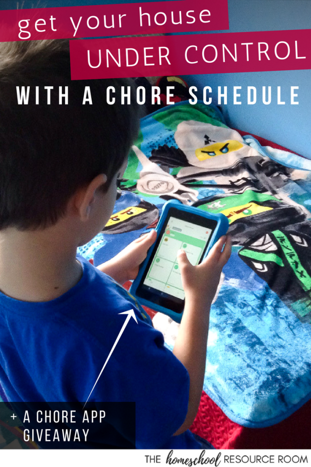 Get your house under control with a Household Chore Schedule - How to do it in 3 steps, plus a chores and allowance app to help!