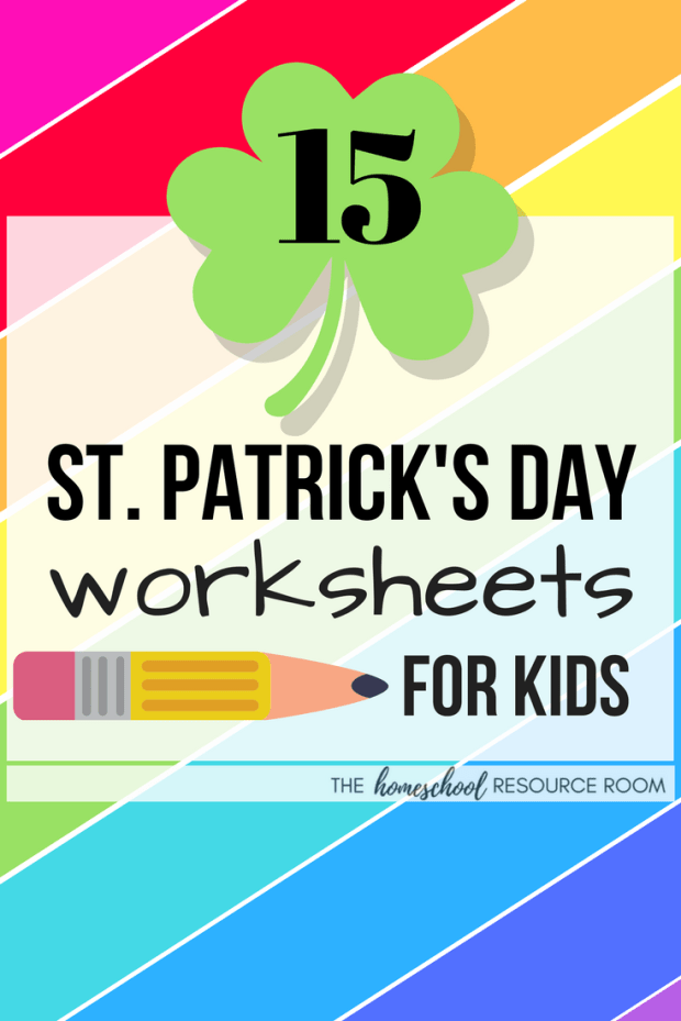 St Patrick's Day Worksheets for kids - coloring, mazes, and puzzles PLUS printable games, interactive worksheets, and lots of green!