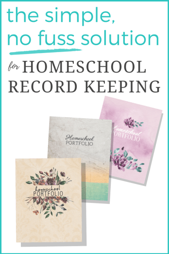 Homeschool Portfolio: the simple, no fuss solution for homeschool record keeping and reporting.