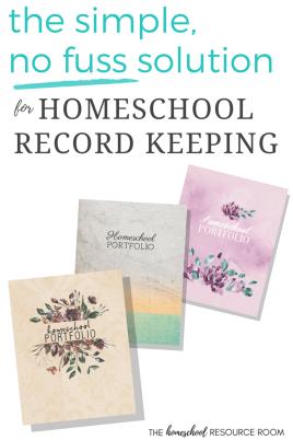 Homeschool Portfolio: the simple, no fuss solution for homeschool record keeping. Versatile homeschool journal.