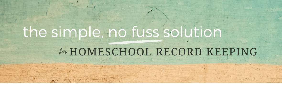 Homeschool Portfolio - the simple, no fuss solution for homeschool record keeping.