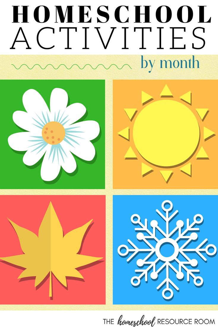 Homeschool Activities for kids - Monthly activities, units, printables and resources.