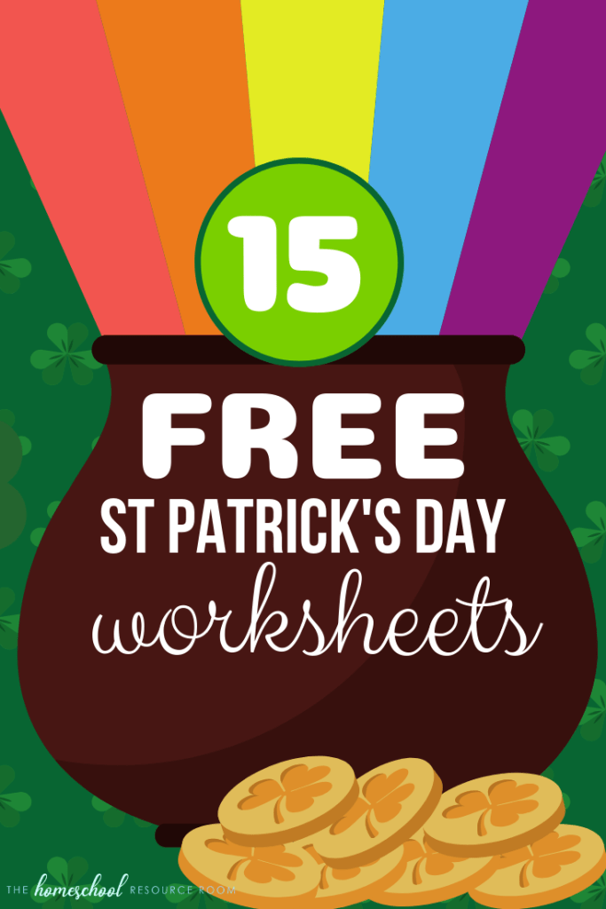 15 FREE St Patricks Day Worksheets for kids! Fun and interactive printables to celebrate St Patty's Day! #stpatricksday #worksheets #freeprintable