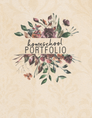 Homeschool Portfolio - Dark Floral Design