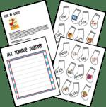 Fox in Socks activities for preschool, kindergarten, and first grade