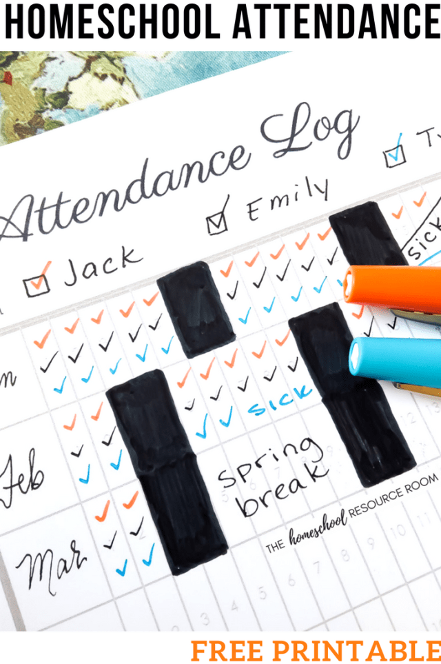 the easy solution for homeschool attendance records free tracker