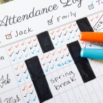 Homeschool Attendance Record for Multiple Children