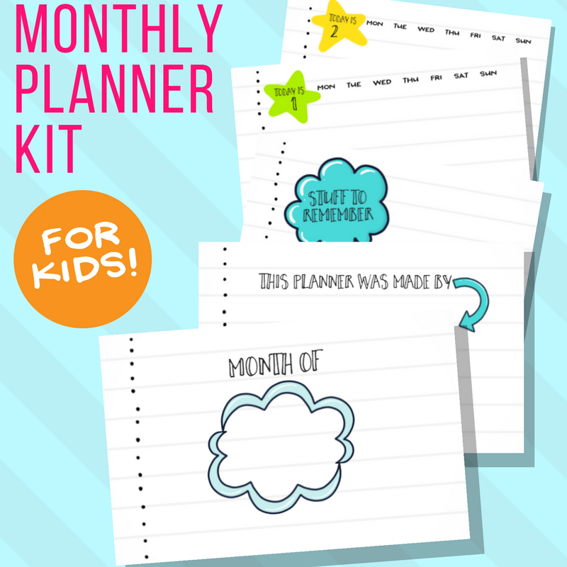 Daily / Monthly Calendar for Kids