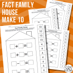 Fact Family House Cut and Paste