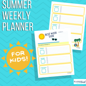 Summer Weekly Planner for Kids