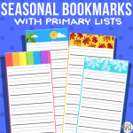 Seasonal Bookmarks with Primary Lines