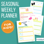 Seasonal Weekly Planner Bundle for Kids