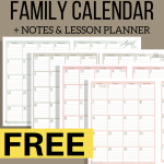 Family Organization Calendar and Lesson Planner