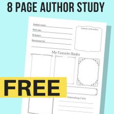 Free Printable Author Study