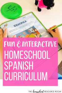 Homeschool Spanish Curriculum - fun an interactive Spanish Lessons for kids.