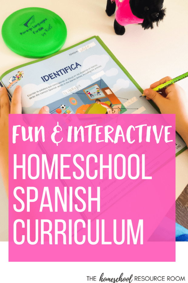 Homeschool Spanish Curriculum - fun an interactive Spanish Lessons for kids.