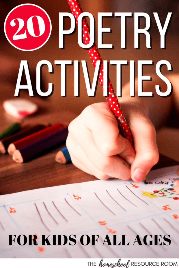 Poetry Activities for reading poetry, writing poems, and incorporating poetry into your other lesson plans!