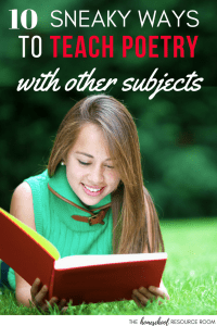 10 Sneaky ways to teach poetry by incorporating them into other subjects.