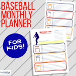 Baseball Weekly Planner for Kids