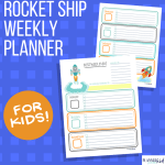 Rocket Ship Weekly Planner for Kids