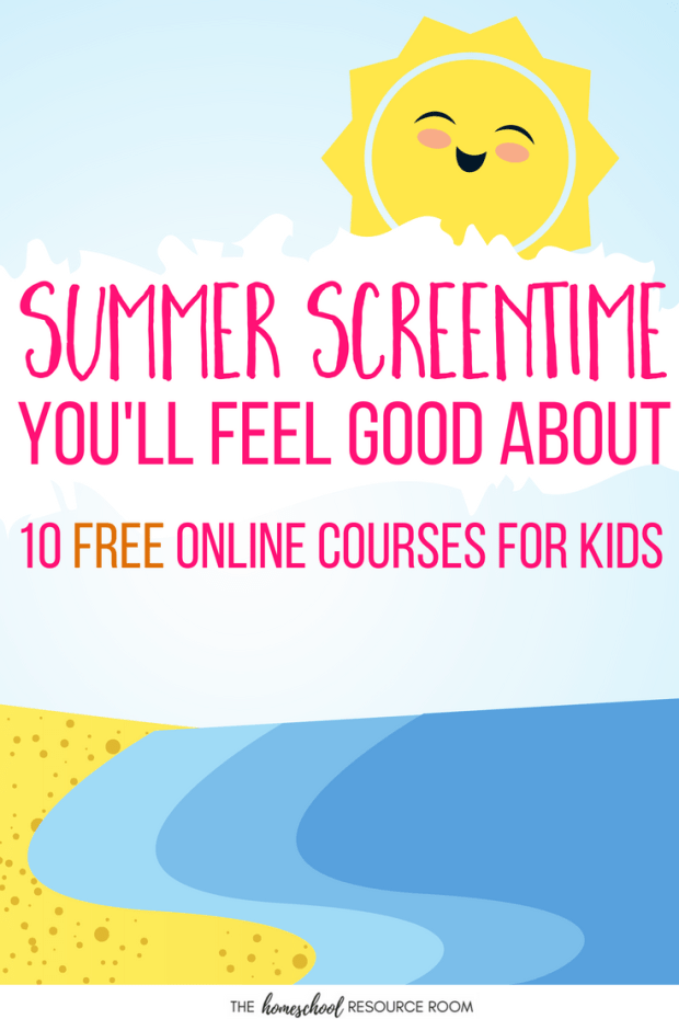 Finally! Summer Screentime You Can Feel Good About! Click through to find 10 FREE online courses for kids and STOP the Summer Slide!