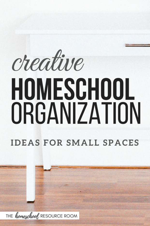You CAN homeschool - even if you live in a small home. Check out these great homeschool organization ideas for small spaces! And a few tips on how to keep your homeschool organized!