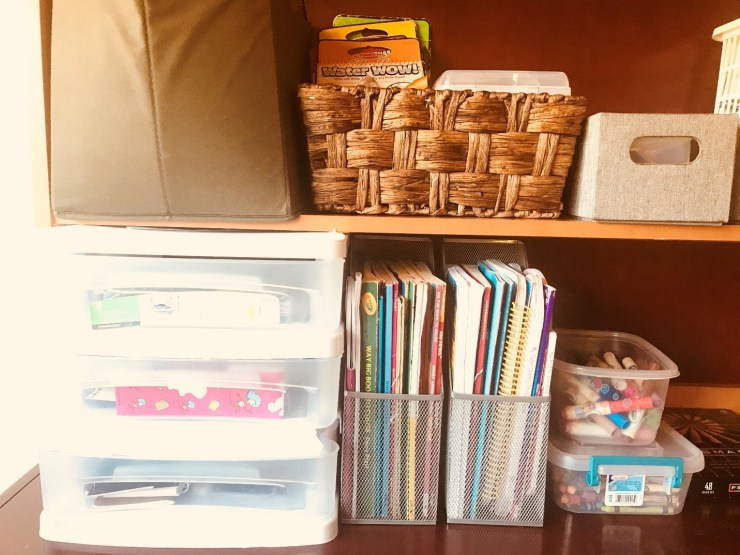 Organizing Homeschool Books
