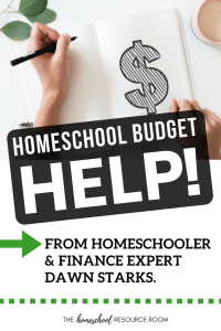 Help for your homeschool budget. Tips and advice from homeschool and finance expert, Dawn Starks of Simple Money Pro. Budgeting for homeschool.
