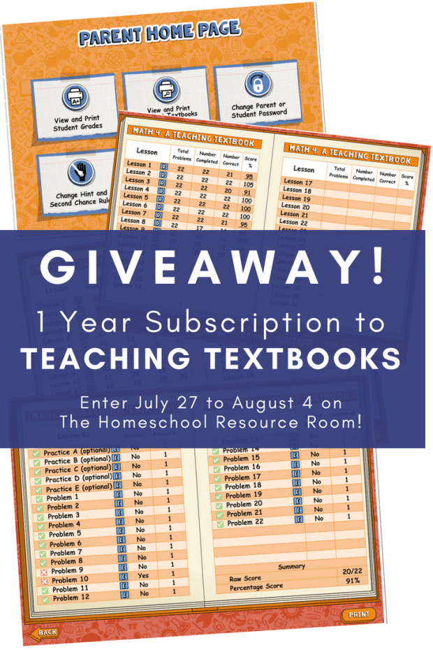 Teaching Textbooks Giveaway! Enter to win a year's subscription to Teaching Textbooks! Plus read a full review of this affordable, engaging program for homeschool.