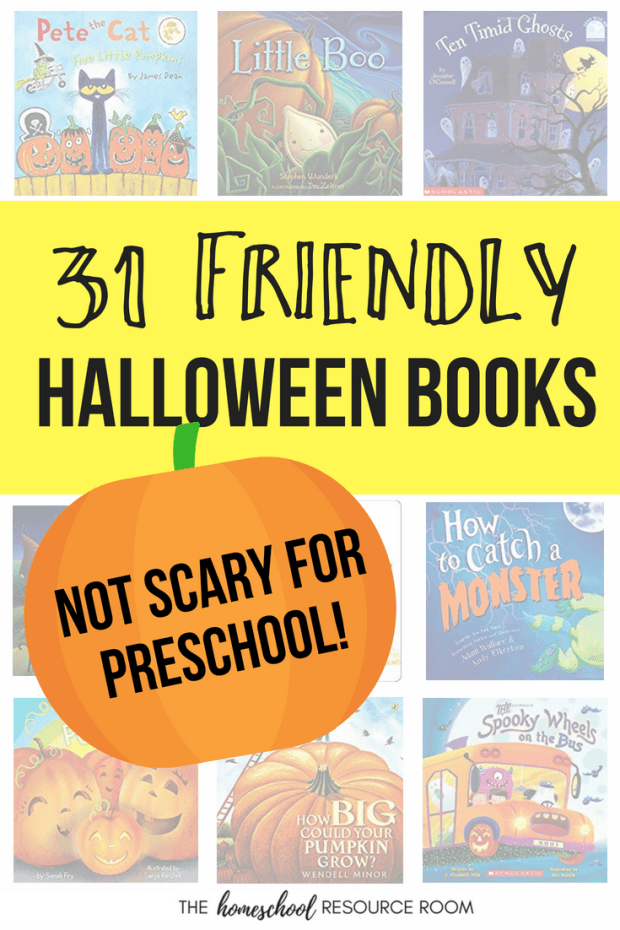 31 days of friendly halloween books for preschool not scary books for sensitive little